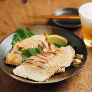 鶏むね肉の鴨ロース風、新レシピ、塩分控えめ
