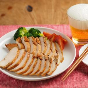 鶏むね肉でスモークチキン、簡単、お茶っ葉燻製の作り方動画