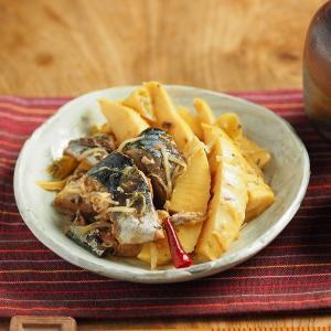 サバ缶と新筍の生姜煮