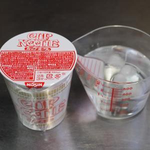 カップラーメンは水で戻しても食べられます、災害時の料理。レシピブログ連載更新