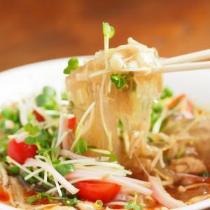 メシ通!「ところてん冷やしサンラータンメン風」&鶏むね肉ともやしの冷製スープそうめん