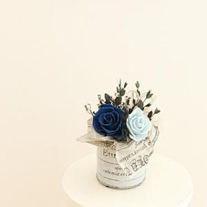 ●  ブルーのお花で販売コース