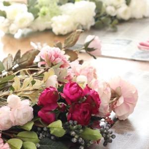 ●花嫁様とお母さまがブーケレッスンに