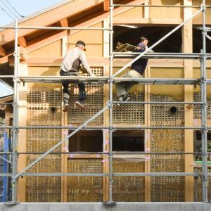 名古屋の石場建て11 荒壁