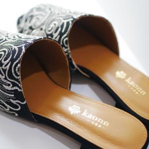 ◆silk fabric flat sandal◆