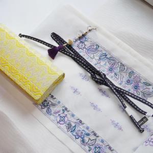 ◆オリジナル夏着物帯揚げを使ったコーデご紹介◆