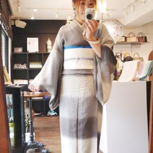 ◆今日は横段紋紗の着物です◆