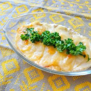 【簡単レシピ】豆腐とジャガイモのグラタン