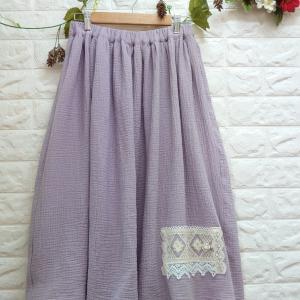 【オーダー品】ボコボコ♡ふんわり〜* 淡いガーゼのスカート