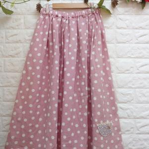 【新作】ふわふわガーゼ* ピンク水玉のスカート♡