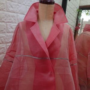 【内職オーダー品】ピンクのオーガンジージャケット*