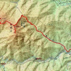 滝と急登の静かな信仰の山、信濃富士有明山(2019年8月24日山行記録(1))