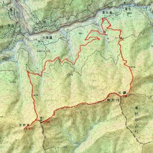 好展望のクマザサの稜線を縦走、四国の秀峰 三嶺山行記録(2019年4月28日山行記録(1))