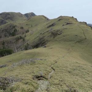 好展望のクマザサの稜線を縦走、四国の秀峰 三嶺山行記録(2019年4月28日山行記録(2))