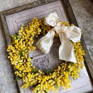 春を呼ぶミモザのリース 〜春のおすすめレッスン〜