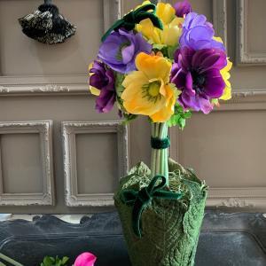 アネモネのトピアリー.....春のおすすめレッスン