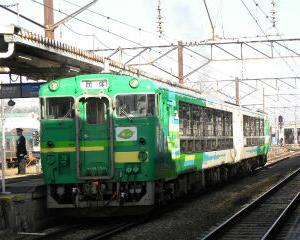風っこ只見線ストーブ列車 会津若松駅
