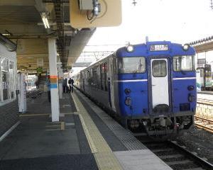 臨時団体列車 越乃Shu*Kura 会津若松駅