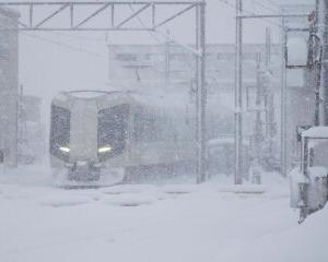 雪の中 東武500系