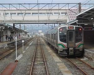 今日の会津若松駅 E721系・GV-E400系・キハE120系