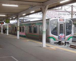 快速あいづ6号 指定席・ヘッドマークあり 会津若松駅