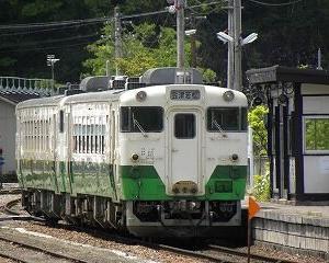懐かしいかな 只見線 キハ40 会津川口駅