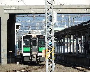 今日の会津若松駅 キハE120系・GV-E400系・AT500形
