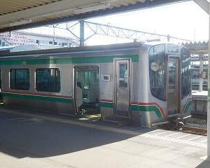 今日の会津若松駅 E721系・GV-E400系・キハE120系・風っこ