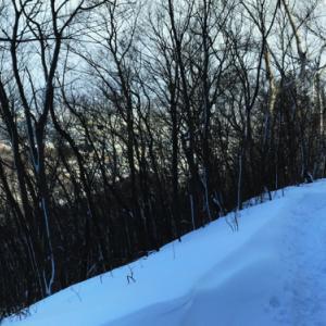 冬山縦走・三角山〜大倉山〜奥三角山