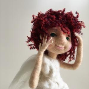 手で表情が出せます♪羊毛フェルトの天使人形 デザフェス出展