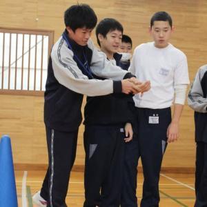 中学部1年 第2回 阿字ヶ浦中学校との学校間交流
