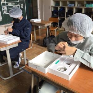 中学部2年生 校内作業体験