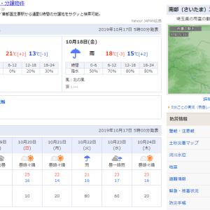 台風19号の影響