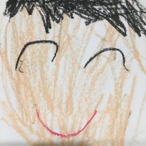 ぽんちゃんが幼稚園で父の日に書いてくれた似顔絵