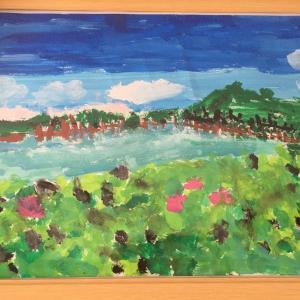 ぽんちゃんが3年生の時に描いた伊佐沼の絵
