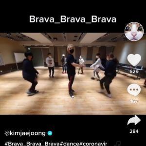 ジェジュンのTikTok「Brava!!Brava!!Brava!!!」ダンスver.