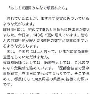 東京都医師会会長からのお願い抜粋