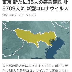 東京 新たに35人感染確認 新型コロナ(200619)