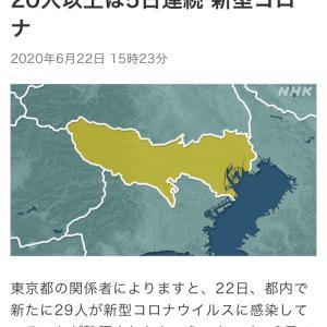 東京都 新たに29人感染確認 新型コロナ(200622)