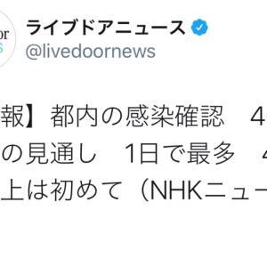 東京都の感染確認 460人台の見通し(200731)