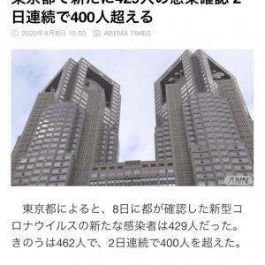 東京都 新たに429人感染確認 新型コロナ(200808)
