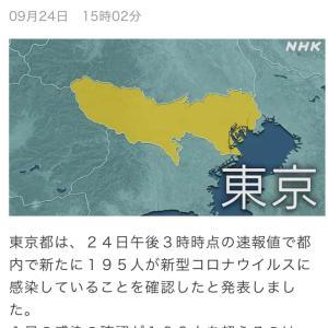 東京都 新たに195人の感染確認 新型コロナ/台風情報(200924)