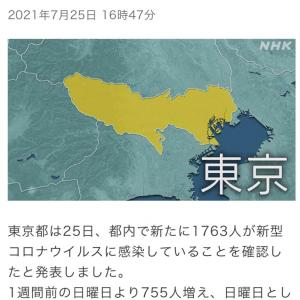 東京都 新たに1763人の感染確認 新型コロナ(210725)