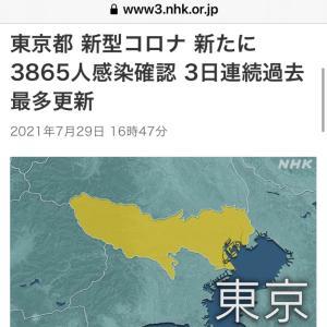 東京都 新たに3865人感染確認  新型コロナ(210729)