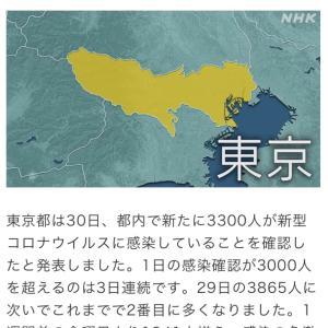 東京都 新たに3300人の感染確認 新型コロナ(210730)