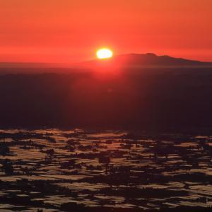男鹿半島に沈む夕陽