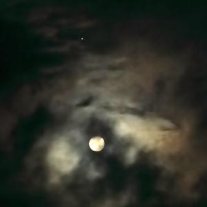 満月と木星