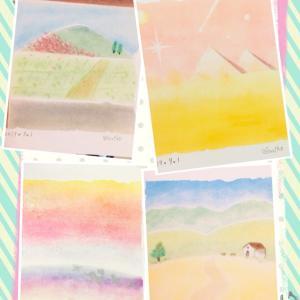 ●温かい色合いを指で♪習い事とインスト開催★ パステルアート東京阿佐ヶ谷横浜みなとみらい桜木町