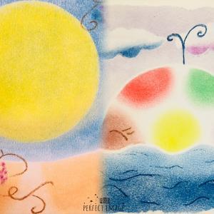 ● ブドウとカラフルクジラinパステルアート横浜みなとみらい桜木町
