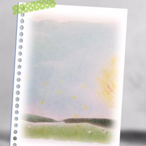 ●パステルアートで秋銀杏色(その先へ♪)